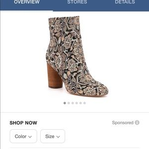 Sam Edelman Corra Tapestry Ankle Boots